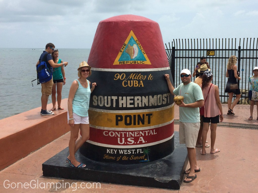 Photo op at the Southernmost Point in the Conch Republic